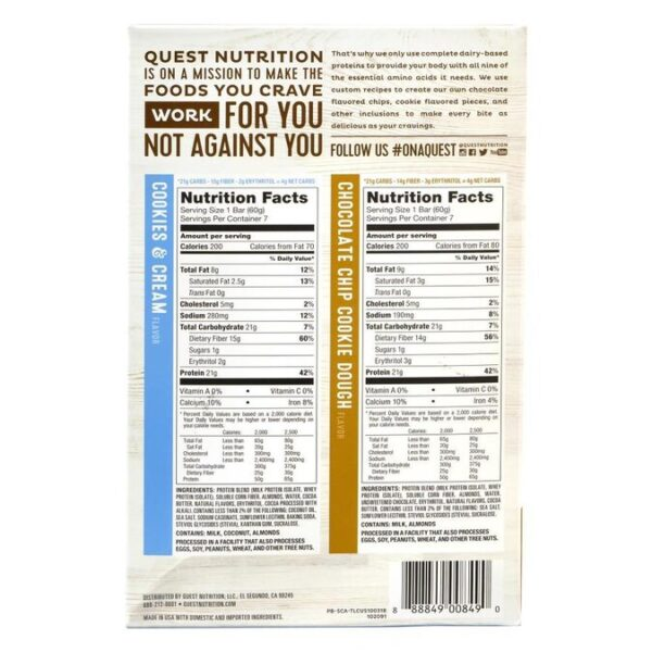 Quest Protein Bars Nutritional Info