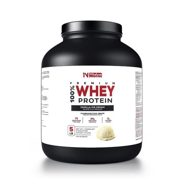 whey protein powder milk vanilla flavour